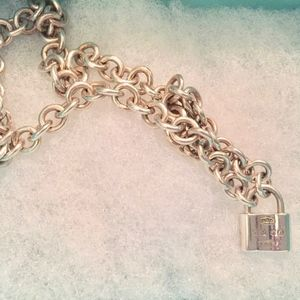 Tiffany & Co. Sterling 1837 Lock Padlock Chain